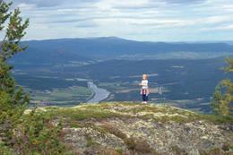 Utsikt nordover dalen - Foto: Ukjent