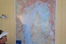 Kart over OslofjordeK - Foto:
