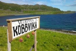 Velkommen til Kobbvika -  Foto: Monica B. Johansen