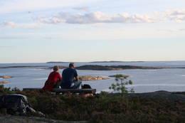 Å nyte solnedgangen på Blåsopp er stemningsfullt! -  Foto: Turperler - Linken Raeng