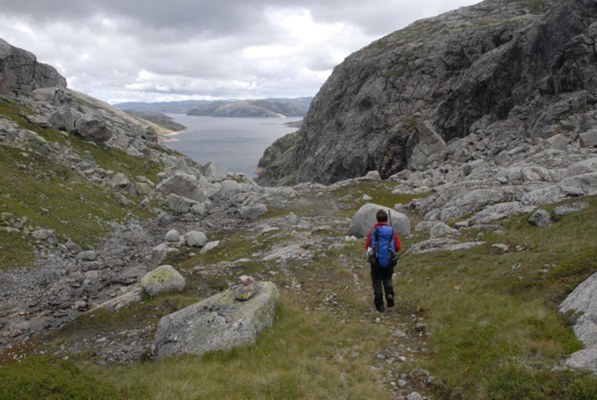 Øverst i Kamsdalen ved Fidjaholet