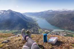 Lunsjpause på toppen! - Foto: Live Andrea Sulheim