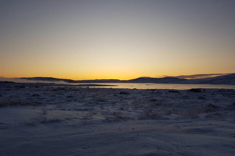Soloppgang sett fra Krækkja