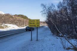 Man kan gå av veien der fotografen står - Foto: Kjell Fredriksen