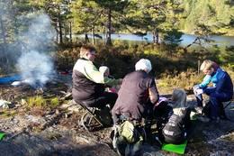 Bålkos ved Guritjønn. - Foto: Lars Jøran Sundsdal