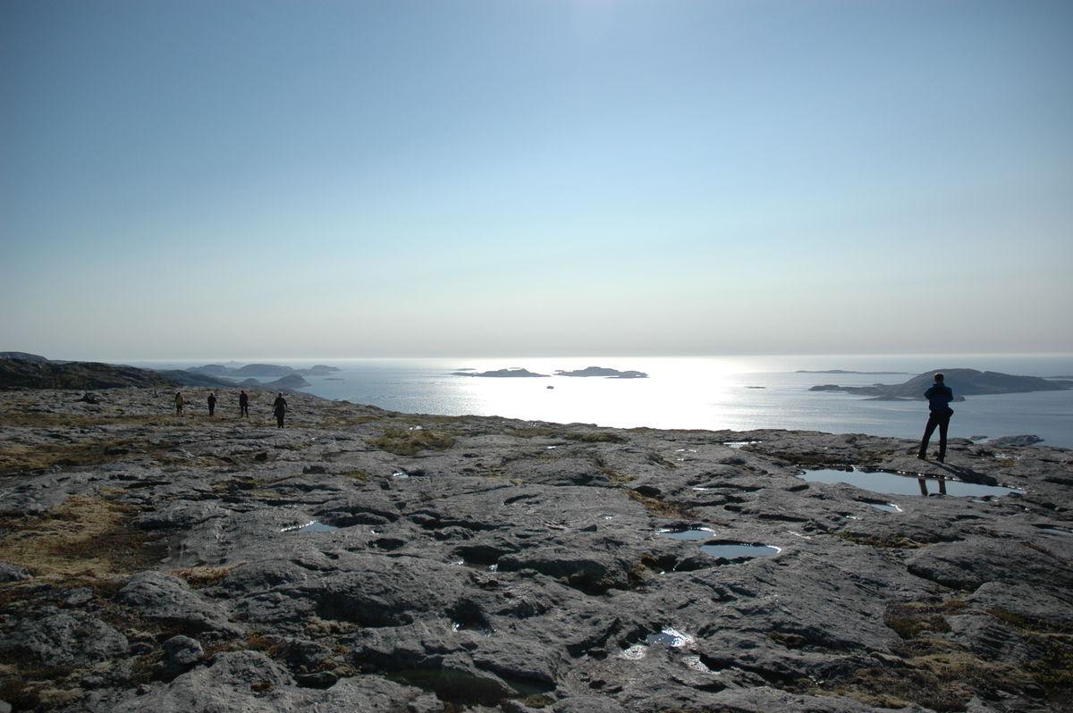 Utsikt fra platået på fjellet