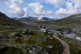 Vestover mot Drugshøtjønnin og Storskrymten -  Foto: Inger Lise Kristensen