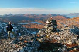 Mot vest fra Hardbakkfjellet -  Foto: Jonny Remmereit