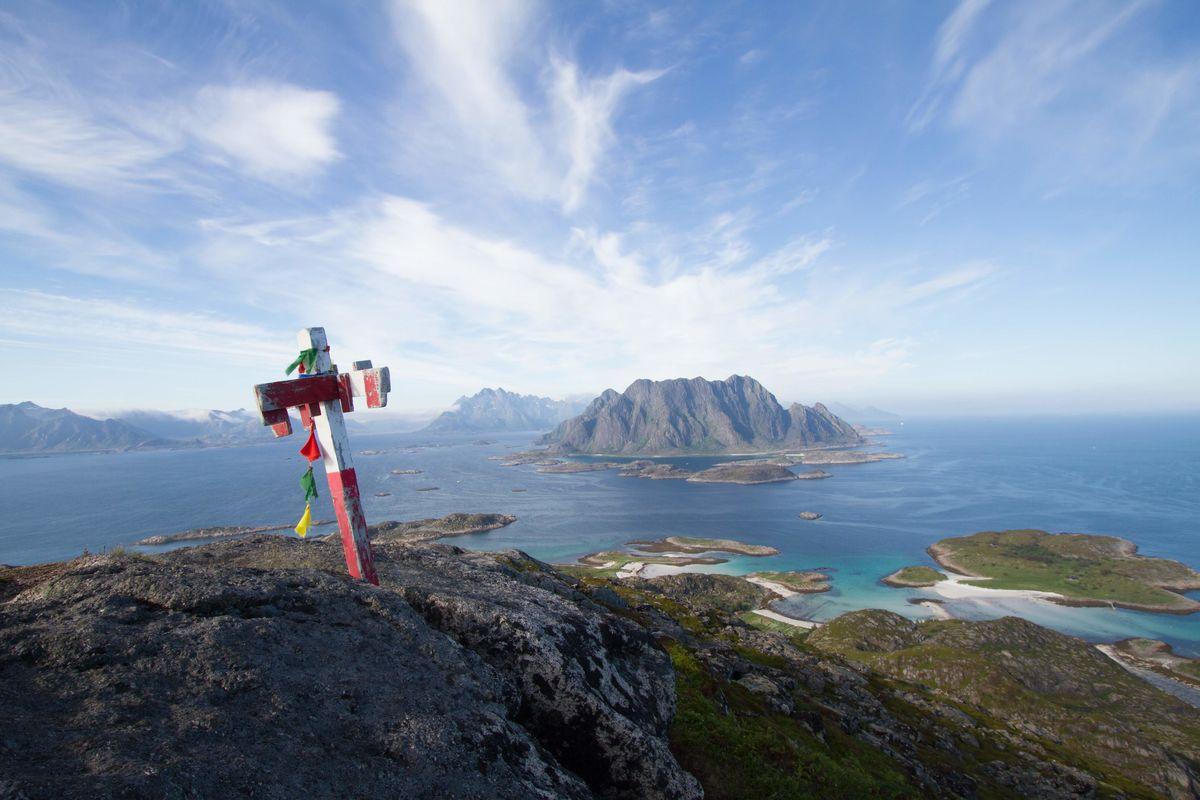 Utsikt fra toppen av Høgskrova