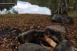 Bålplass ved Hvamsetertjern -  Foto: Mette Rolstad