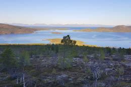 Fra oppstigninga - utsikt nordover - Foto: Kjell Fredriksen