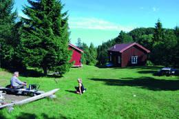 Tunet ved Damhaugen er en fint tilrettelagt rasteplass for turgåere. - Foto: Asgeir Våg