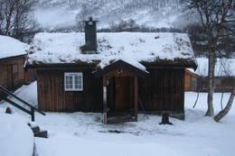 Vinterkvarteret på Vangshaugen i Nordmøre, januar 2013.  - Foto: Birger Blomvik
