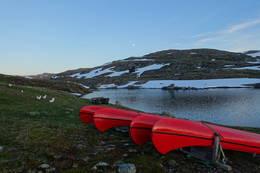 Kano ved Geiteryggvatnet  - Foto: Marit Wøllo