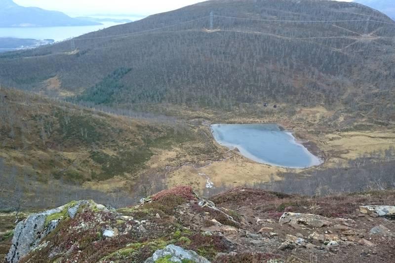 Oversiktsbilde Skålsvikvatnet.