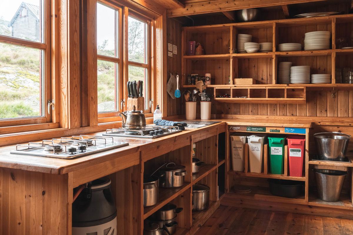 Kjøkkenkrok  på Grautheller