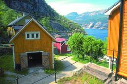 De fleste av bygningene i Flørligrenda brukes i dag som fritidsboliger av private - Foto: Stavanger Turistforening