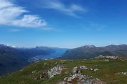 Utsikt frå Vedviknibba - Foto: Bodil Dybevoll