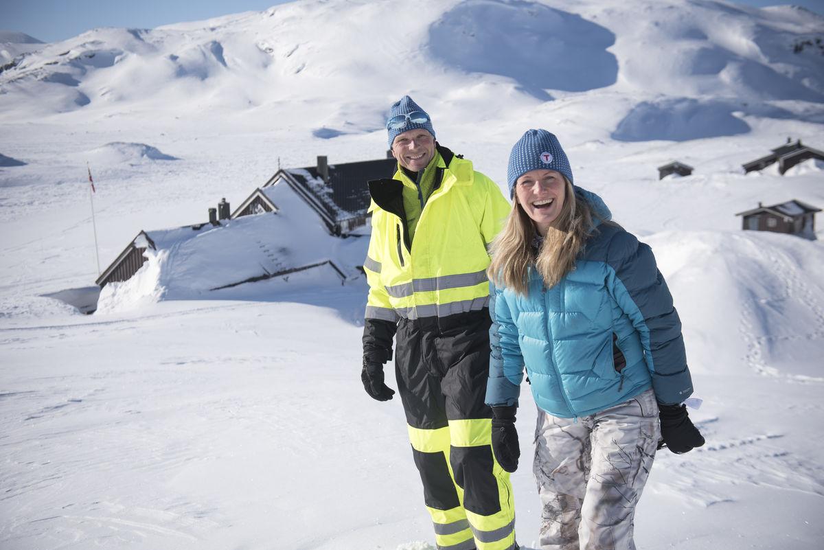 Bestyrerne Jon og Marit Wøllo på Geiterygghytta