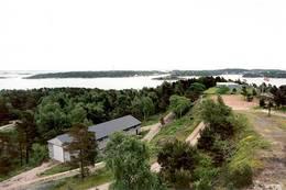 Fin utsikt oppe fra kasematten -  Foto: Ukjent
