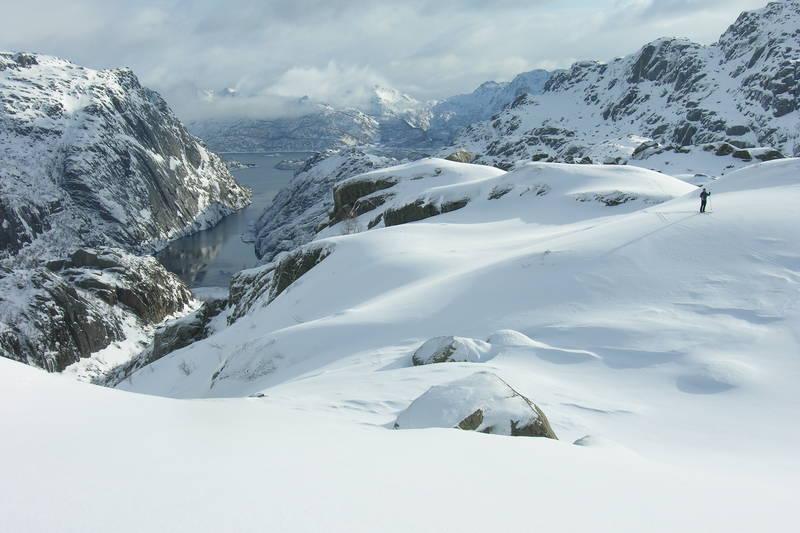 Skitur ved Trollfjorden