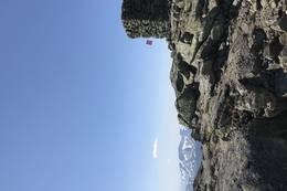 Toppvarden på Melderskin 1426 moh. - Foto: Anne Kari Walborg Enes