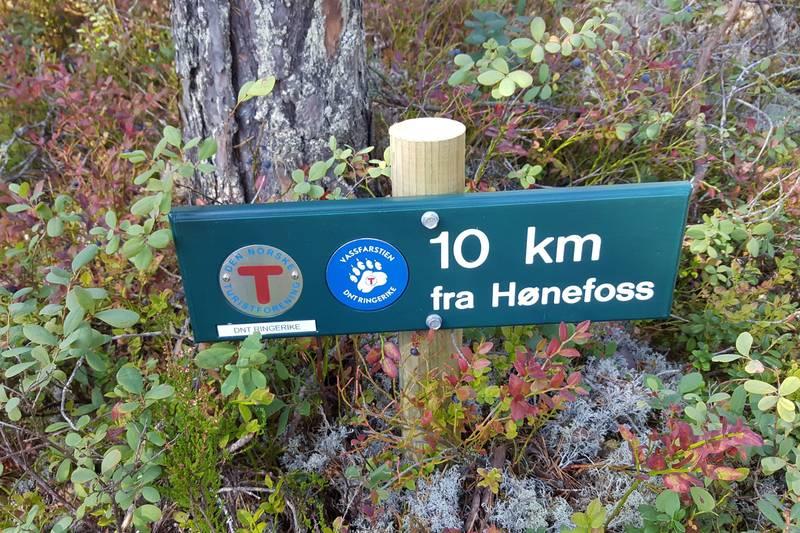 10 km fra Hønefoss