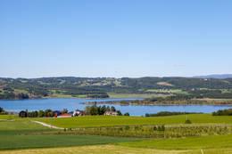 Utsikt fra Mære Kirke - Foto: Steinkjerfotografen