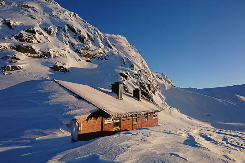 Mye snø på Langavatn