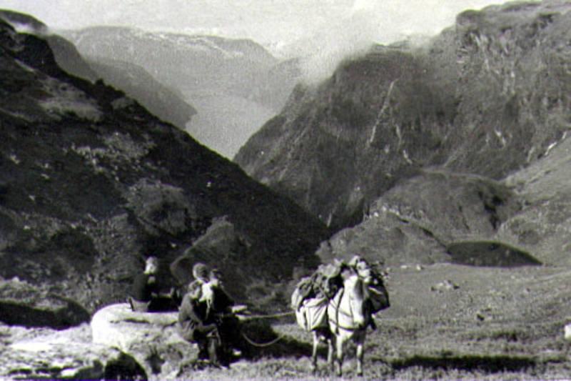 Kløving til fjells ca 1960.