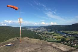 Utsikt over Drammensdalen fra Knabben på Solbergfjellet. -  Foto: Willy Skaret