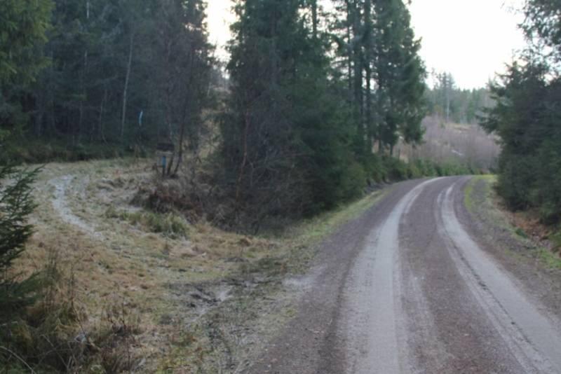 Start på traktorvei og sti