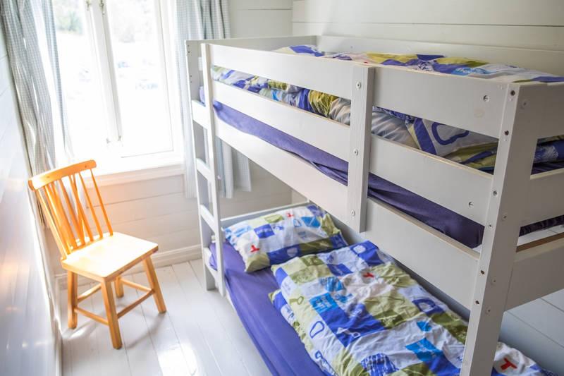 Et av de fire soverommene i Gramstadhuset