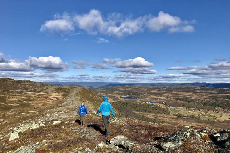 Følg fjellryggen nordover på returen