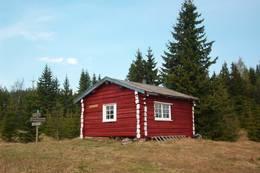 ubetjent hytte, Våler Finnskog, Finnskogen Turistforening -  Foto: Stein  Briskerud