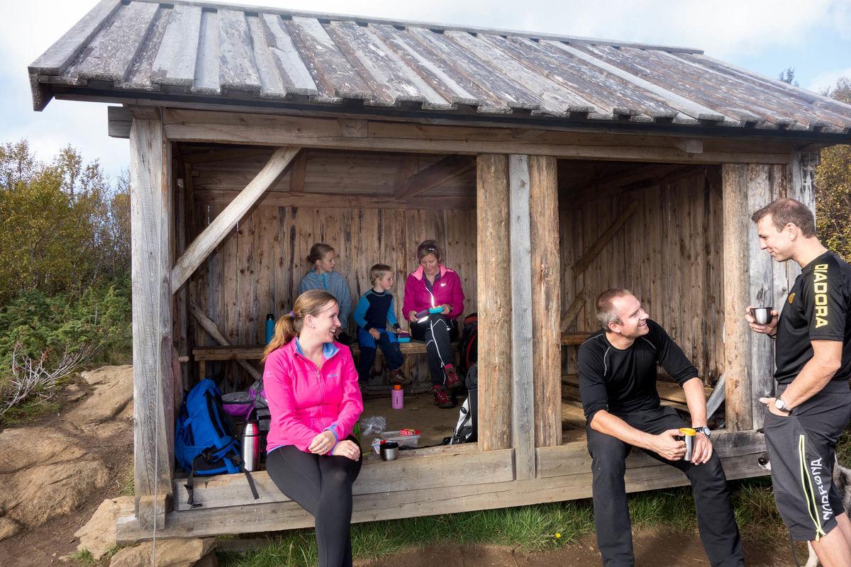Torgeirsjåen er en populær rasteplass, både sommer og vinter