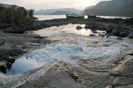 Kveldsstemning ved Nilsebu. I forgrunnen Gråfollåna - Foto: Stavanger Turistforening