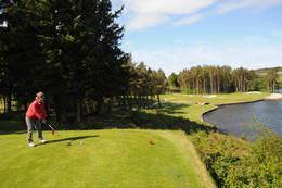 Turveien går forbi Stavanger golfklubb. Husk å holde deg til turveien når det pågår spill på banen.  - Foto: Kjell Helle-Olsen
