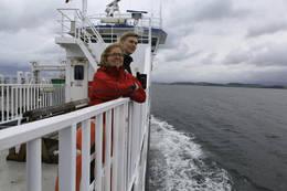 På ferga til Levanger - Foto: Steinkjerfotografen