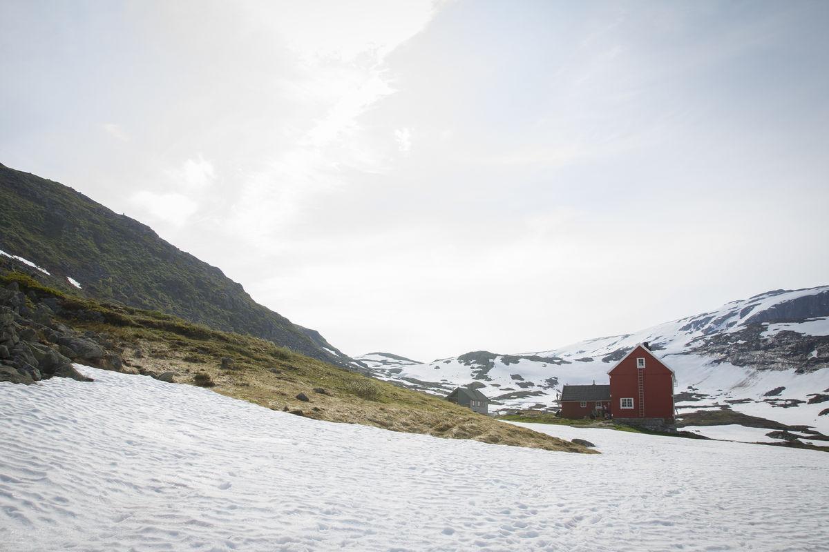 Stavali sommeren 2015 da det var mye snø i området.