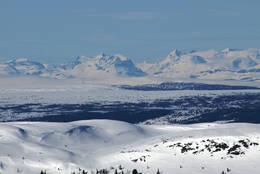 Utsyn fra Rauddalsfjellet. Jotunheimen i bakgrunnen - Foto: Kjell Arne Berntsen