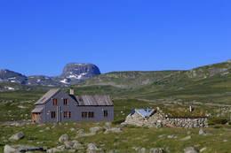Hadlaskard turisthytte ligger tre timers lett tur fra foten av Hårteigen. -  Foto: Svein Ulvund
