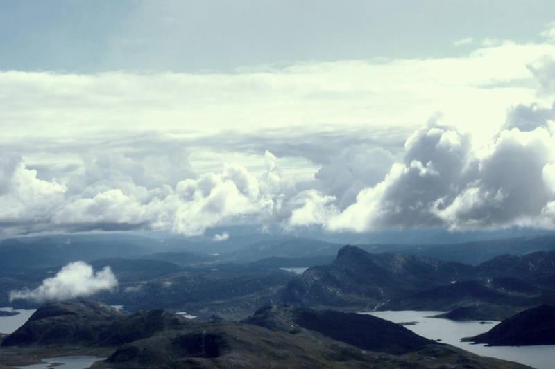 Utsikt fra Rasletinden.