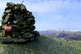 Toppen av Rygla med utsyn mot Skykula - Foto: Jens Wyludda