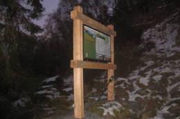 Stuvasete, Fjellsti-skilt -  Foto: Ivar Eidnes