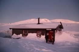 Conujavrihytta vinterlys -  Foto: Bjørn Forselv