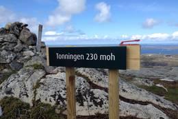 Tonningen 230 moh,  -  Foto: Johan Eide