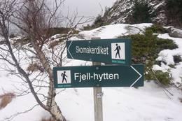 På vei fra Fjellhytten mot Granbakken ved Skomakerdiket. -  Foto: Lars Pesch