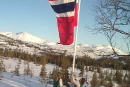 En av mange flaggdager i Norge - Foto: