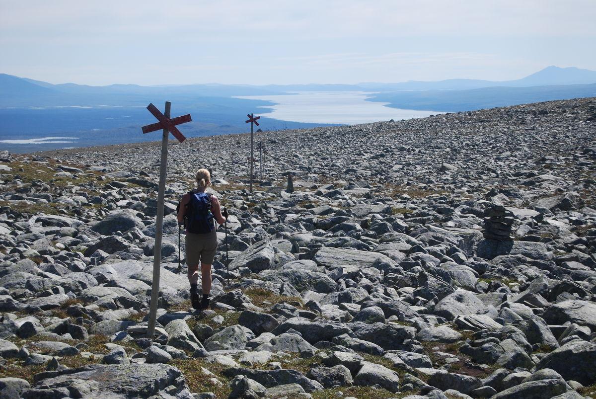Fra ruta er det flott utsikt mot Femunden i sør.